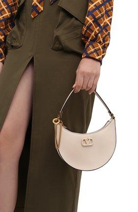 Женская сумка vsling mini VALENTINO кремвого цвета, арт. WW2P0W19/RQR   Фото 2 (Материал: Натуральная кожа; Сумки-технические: Сумки top-handle; Размер: mini)