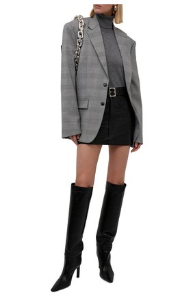 Женская кожаная юбка MANOKHI черного цвета, арт. A0000067 | Фото 2 (Материал подклада: Вискоза; Длина Ж (юбки, платья, шорты): Мини; Женское Кросс-КТ: Юбка-одежда; Стили: Гранж)