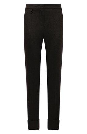Женские шерстяные брюки LORENA ANTONIAZZI хаки цвета, арт. I2141PA38B/3273 | Фото 1 (Длина (брюки, джинсы): Стандартные; Материал внешний: Шерсть; Женское Кросс-КТ: Брюки-одежда; Силуэт Ж (брюки и джинсы): Узкие; Стили: Кэжуэл)