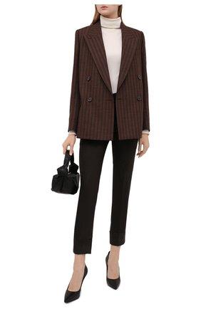Женские шерстяные брюки LORENA ANTONIAZZI хаки цвета, арт. I2141PA38B/3273 | Фото 2 (Длина (брюки, джинсы): Стандартные; Материал внешний: Шерсть; Женское Кросс-КТ: Брюки-одежда; Силуэт Ж (брюки и джинсы): Узкие; Стили: Кэжуэл)