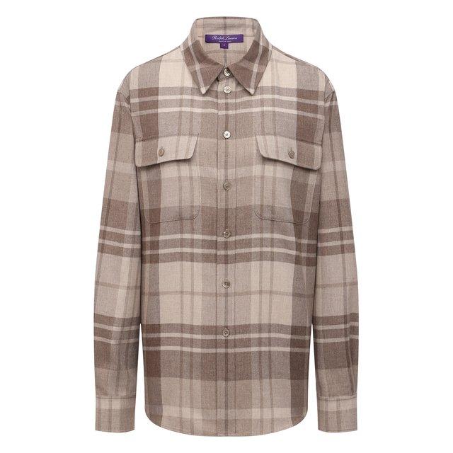 Рубашка из шерсти и шелка Ralph Lauren