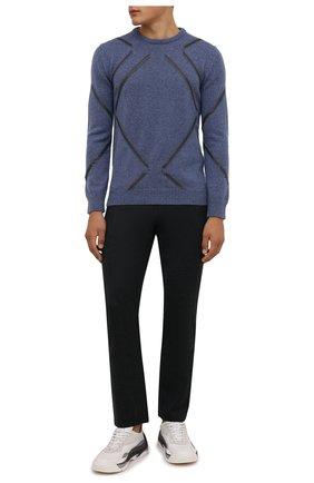 Мужские шерстяные брюки CANALI темно-серого цвета, арт. V1551/AR03472 | Фото 2 (Материал внешний: Шерсть; Случай: Повседневный; Стили: Кэжуэл; Длина (брюки, джинсы): Стандартные)