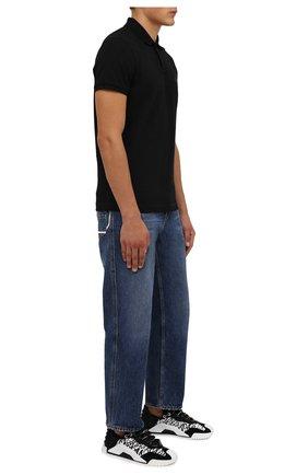 Мужские комбинированные кеды ns1 DOLCE & GABBANA черно-белого цвета, арт. CS1810/A0844   Фото 2 (Материал внешний: Текстиль; Подошва: Плоская; Материал внутренний: Натуральная кожа, Текстиль)