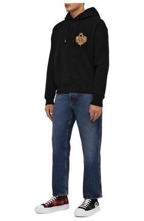 Мужские текстильные кеды portofino light DOLCE & GABBANA зеленого цвета, арт. CS1889/A0789 | Фото 2 (Материал внутренний: Натуральная кожа; Подошва: Плоская; Материал внешний: Текстиль)