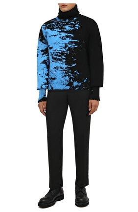 Мужские кожаные ботинки DOLCE & GABBANA черного цвета, арт. A60380/A0953 | Фото 2 (Подошва: Массивная; Материал внутренний: Натуральная кожа; Мужское Кросс-КТ: Ботинки-обувь, Байкеры-обувь)