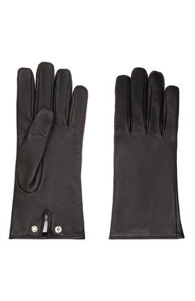 Мужские кожаные перчатки BURBERRY черного цвета, арт. 8046011 | Фото 2 (Мужское Кросс-КТ: Кожа и замша)