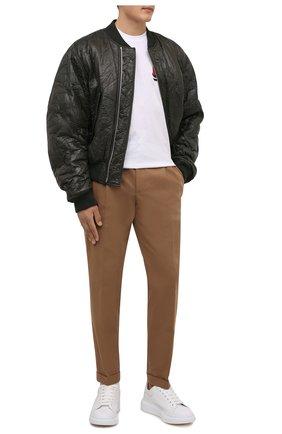Мужская хлопковая футболка BURBERRY белого цвета, арт. 8045495 | Фото 2 (Длина (для топов): Стандартные; Материал внешний: Хлопок; Рукава: Короткие; Принт: С принтом)