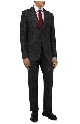 Мужские кожаные дерби DOUCAL'S черного цвета, арт. DU2728VER0UT019NN00 | Фото 2 (Материал внутренний: Натуральная кожа, Текстиль; Стили: Классический)