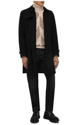 Мужские замшевые дерби DOUCAL'S серого цвета, арт. DU2904ST0CPT4852N03 | Фото 2 (Материал внутренний: Текстиль; Материал внешний: Замша; Стили: Классический)