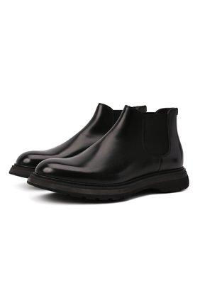 Мужские кожаные челси DOUCAL'S черного цвета, арт. DU2917ST0CUT0072N00 | Фото 1 (Материал внутренний: Натуральная кожа, Текстиль; Подошва: Плоская; Мужское Кросс-КТ: Сапоги-обувь, Челси-обувь)