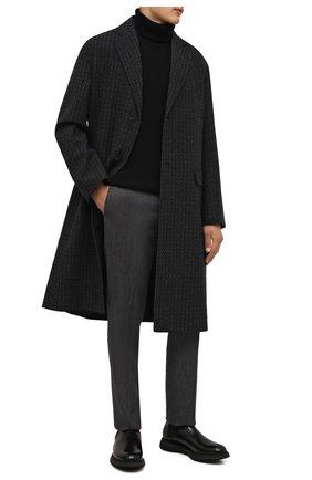 Мужские кожаные челси DOUCAL'S черного цвета, арт. DU2917ST0CUT0072N00 | Фото 2 (Материал внутренний: Натуральная кожа, Текстиль; Подошва: Плоская; Мужское Кросс-КТ: Сапоги-обувь, Челси-обувь)