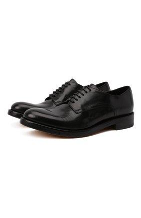 Мужские кожаные дерби DOUCAL'S черного цвета, арт. DU2920B0LLUF063NN00 | Фото 1 (Материал внутренний: Натуральная кожа; Стили: Классический)