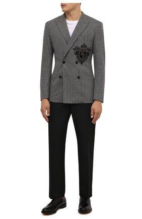 Мужские кожаные дерби DOUCAL'S черного цвета, арт. DU2920B0LLUF063NN00 | Фото 2 (Материал внутренний: Натуральная кожа; Стили: Классический)