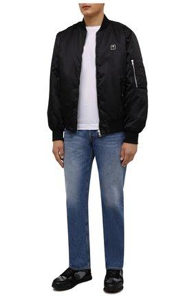Мужские комбинированные кроссовки rockrunner VALENTINO черного цвета, арт. WY2S0723/LBY   Фото 2 (Материал внутренний: Текстиль; Стили: Гранж; Подошва: Массивная)
