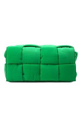 Мужская текстильная сумка padded tech cassette BOTTEGA VENETA зеленого цвета, арт. 628951/VB081 | Фото 1 (Материал: Текстиль; Ремень/цепочка: На ремешке)
