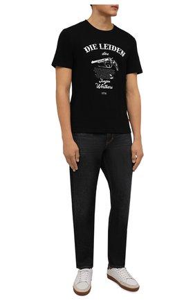 Мужская хлопковая футболка TEE LIBRARY черного цвета, арт. TFK-TS-41 | Фото 2 (Длина (для топов): Стандартные; Рукава: Короткие; Материал внешний: Хлопок; Принт: С принтом)