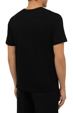 Мужская хлопковая футболка TEE LIBRARY черного цвета, арт. TFK-TS-39 | Фото 4 (Рукава: Короткие; Длина (для топов): Стандартные; Принт: С принтом; Материал внешний: Хлопок)