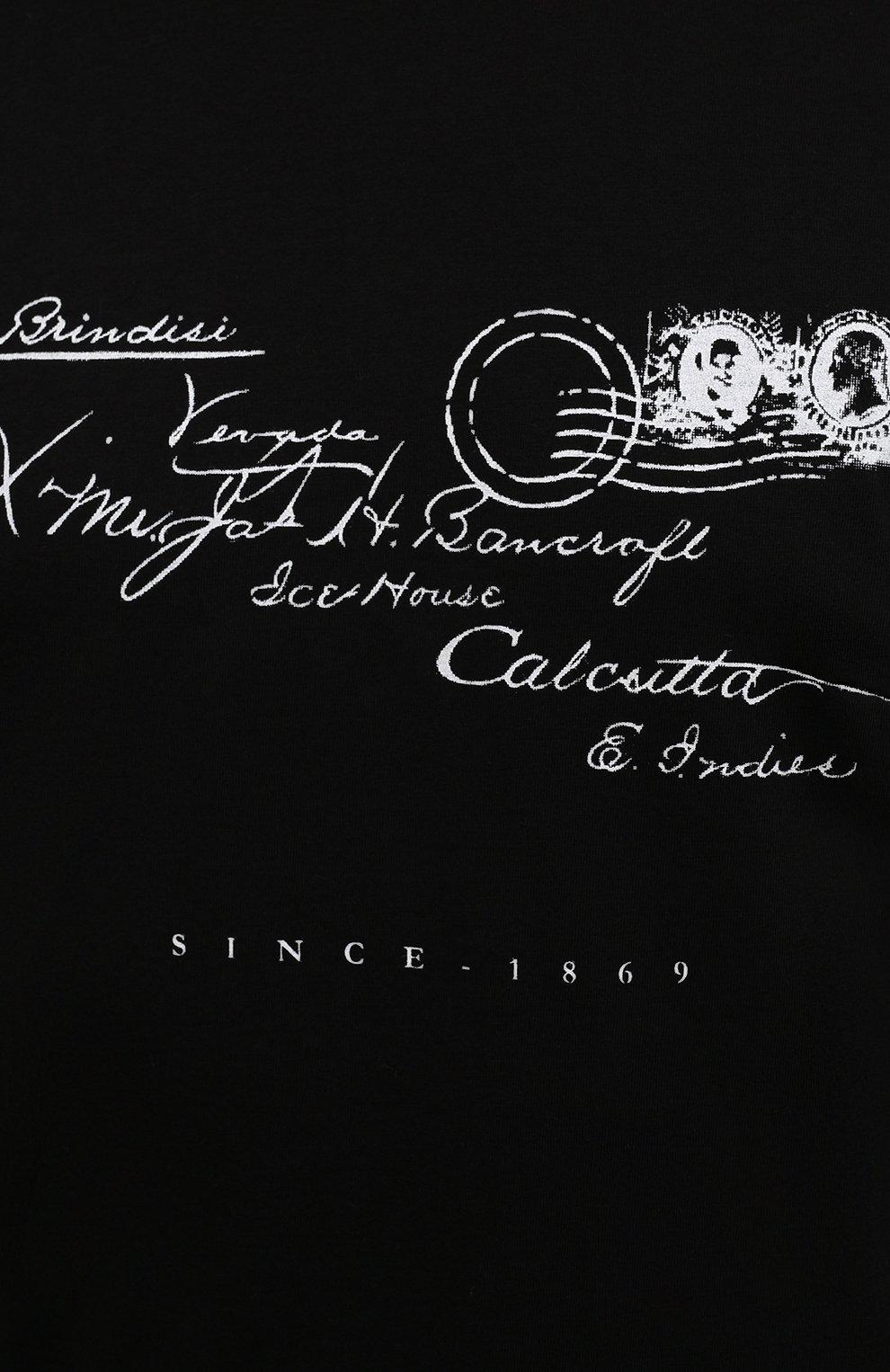 Мужская хлопковая футболка TEE LIBRARY черного цвета, арт. TFK-TS-39 | Фото 5 (Рукава: Короткие; Длина (для топов): Стандартные; Принт: С принтом; Материал внешний: Хлопок)