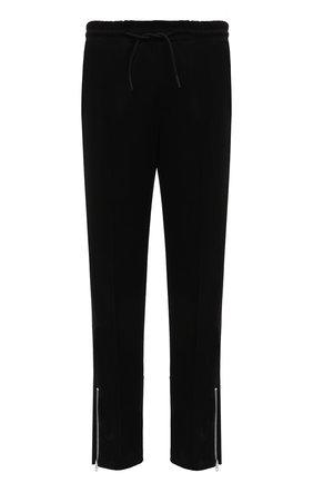Мужские хлопковые брюки TEE LIBRARY черного цвета, арт. TFK-PT-20 | Фото 1 (Материал внешний: Хлопок; Длина (брюки, джинсы): Стандартные; Случай: Повседневный; Мужское Кросс-КТ: Брюки-трикотаж; Стили: Спорт-шик)