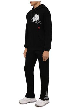 Мужские хлопковые брюки TEE LIBRARY черного цвета, арт. TFK-PT-20 | Фото 2 (Материал внешний: Хлопок; Длина (брюки, джинсы): Стандартные; Случай: Повседневный; Мужское Кросс-КТ: Брюки-трикотаж; Стили: Спорт-шик)