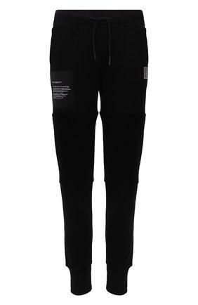 Мужские хлопковые джоггеры TEE LIBRARY черного цвета, арт. TFK-JP-45 | Фото 1 (Материал внешний: Хлопок; Длина (брюки, джинсы): Стандартные; Силуэт М (брюки): Джоггеры; Мужское Кросс-КТ: Брюки-трикотаж; Стили: Спорт-шик)