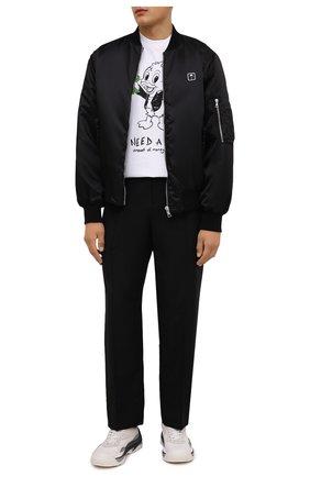 Мужская хлопковая футболка DOMREBEL белого цвета, арт. MHUG/B0X T | Фото 2 (Длина (для топов): Стандартные; Рукава: Короткие; Материал внешний: Хлопок; Принт: С принтом)