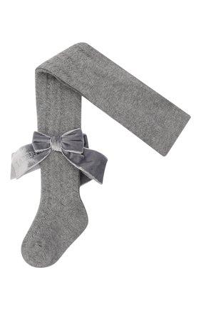 Детские хлопковые колготки LA PERLA серого цвета, арт. 47454/1-3   Фото 1 (Материал: Текстиль, Хлопок)