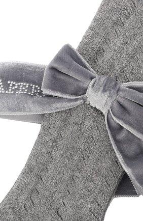 Детские хлопковые колготки LA PERLA серого цвета, арт. 47454/1-3   Фото 2 (Материал: Текстиль, Хлопок)