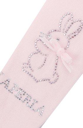 Детские хлопковые колготки LA PERLA светло-розового цвета, арт. 47361/1-3   Фото 2 (Материал: Текстиль, Хлопок)