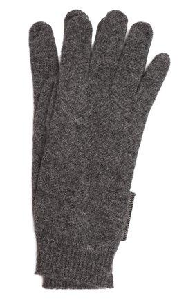 Детские кашемировые перчатки BRUNELLO CUCINELLI темно-серого цвета, арт. B12M14589B   Фото 1 (Материал: Шерсть, Кашемир)