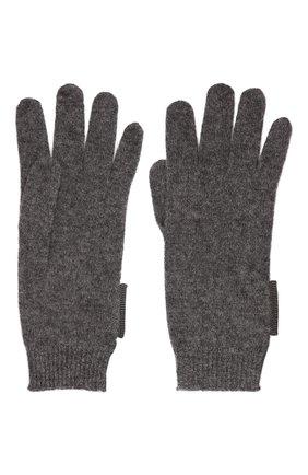 Детские кашемировые перчатки BRUNELLO CUCINELLI темно-серого цвета, арт. B12M14589B   Фото 2 (Материал: Шерсть, Кашемир)