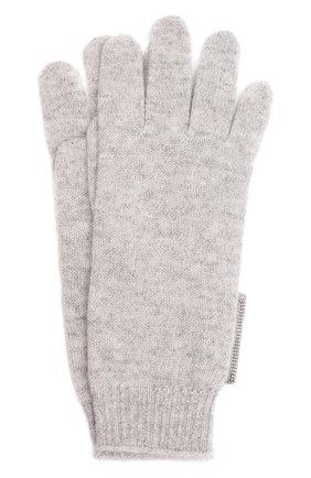 Детские кашемировые перчатки BRUNELLO CUCINELLI светло-серого цвета, арт. B12M14589B   Фото 1 (Материал: Шерсть, Кашемир)