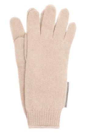 Детские кашемировые перчатки BRUNELLO CUCINELLI бежевого цвета, арт. B12M14589B   Фото 1 (Материал: Кашемир, Шерсть)