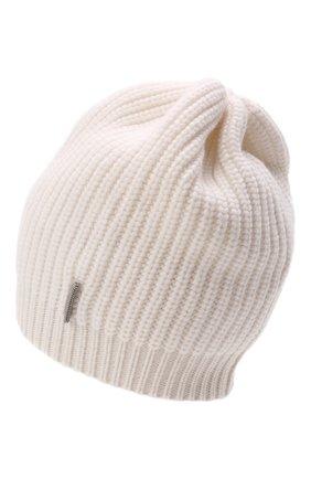 Детского кашемировая шапка BRUNELLO CUCINELLI белого цвета, арт. B52M50299C | Фото 2 (Материал: Кашемир, Шерсть)