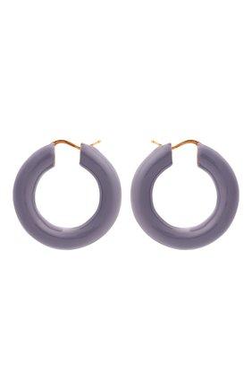 Женские серьги JIL SANDER сиреневого цвета, арт. JSWT837145/WTS80060   Фото 1 (Материал: Металл)