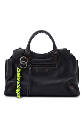 Женская сумка neo classic BALENCIAGA темно-синего цвета, арт. 654907/2VP1V | Фото 1 (Материал: Натуральная кожа; Размер: large; Ремень/цепочка: На ремешке; Сумки-технические: Сумки top-handle, Сумки через плечо)