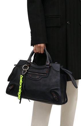 Женская сумка neo classic BALENCIAGA темно-синего цвета, арт. 654907/2VP1V | Фото 2 (Материал: Натуральная кожа; Размер: large; Ремень/цепочка: На ремешке; Сумки-технические: Сумки top-handle, Сумки через плечо)