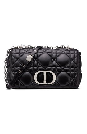 Женская сумка dior caro medium DIOR черного цвета, арт. M9242BNGKM900   Фото 1 (Материал: Натуральная кожа; Сумки-технические: Сумки через плечо; Женское Кросс-КТ: Вечерняя сумка; Размер: medium)