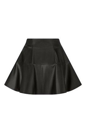 Женская кожаная юбка DIOR черного цвета, арт. 155J19AL015X9000   Фото 2 (Женское Кросс-КТ: Юбка-одежда; Длина Ж (юбки, платья, шорты): Мини; Стили: Гранж)