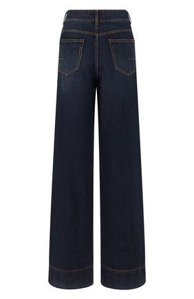 Женские джинсы DIOR синего цвета, арт. 152P41A3394X5651   Фото 2 (Материал внешний: Хлопок; Кросс-КТ: Деним; Силуэт Ж (брюки и джинсы): Расклешенные; Длина (брюки, джинсы): Удлиненные; Стили: Кэжуэл)