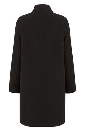 Женское шерстяное пальто DIOR черного цвета, арт. 150M19A1375X9000   Фото 2 (Материал внешний: Шерсть; 1-2-бортные: Двубортные; Рукава: Длинные; Длина (верхняя одежда): До колена; Стили: Кэжуэл)