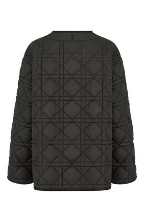 Женская стеганая куртка DIOR черного цвета, арт. 157C26A2827X9000   Фото 2 (Материал внешний: Синтетический материал; Кросс-КТ: Куртка; Длина (верхняя одежда): Короткие; Рукава: Длинные; Стили: Кэжуэл)