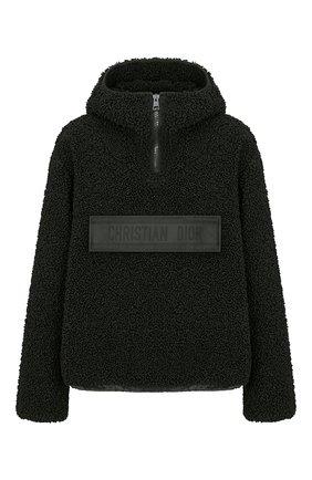 Женская куртка DIOR черного цвета, арт. 157C28A1502X9000   Фото 1 (Материал внешний: Синтетический материал; Кросс-КТ: Куртка; Длина (верхняя одежда): Короткие; Рукава: Длинные; Стили: Спорт-шик)