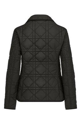 Женская стеганая куртка DIOR черного цвета, арт. 157V38A2827X9000   Фото 2 (Материал внешний: Синтетический материал; Кросс-КТ: Куртка; Рукава: Длинные; Длина (верхняя одежда): Короткие; Стили: Кэжуэл)