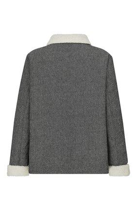 Женская хлопковая куртка DIOR серого цвета, арт. 157V54A3439X8876   Фото 2 (Материал внешний: Хлопок; Кросс-КТ: Куртка; Рукава: Длинные; Длина (верхняя одежда): Короткие; Стили: Кэжуэл, Милитари)