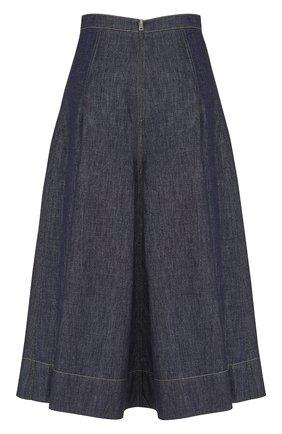 Женская джинсовая юбка DIOR синего цвета, арт. 152J21A3440X5712   Фото 2 (Материал внешний: Хлопок; Женское Кросс-КТ: Юбка-одежда; Длина Ж (юбки, платья, шорты): Миди; Кросс-КТ: Деним; Стили: Кэжуэл)
