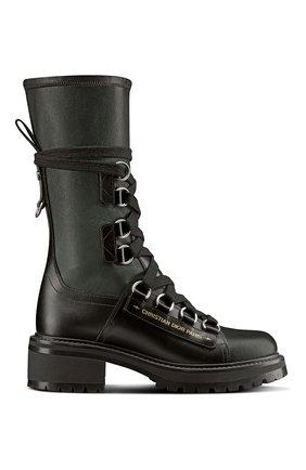 Женские кожаные ботинки d-fight DIOR черного цвета, арт. KCI694XLCS20X   Фото 1 (Женское Кросс-КТ: Военные ботинки)