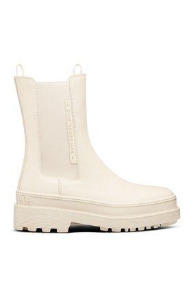 Женские ботинки dior trial DIOR белого цвета, арт. KCI712VEAS03W | Фото 1 (Материал внешний: Резина; Женское Кросс-КТ: Челси-ботинки)