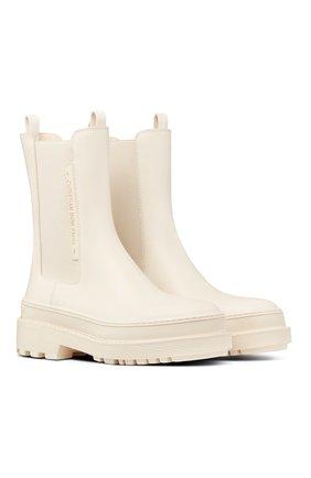 Женские ботинки dior trial DIOR белого цвета, арт. KCI712VEAS03W | Фото 2 (Материал внешний: Резина; Женское Кросс-КТ: Челси-ботинки)