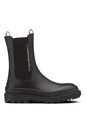 Женские ботинки dior trial DIOR черного цвета, арт. KCI712VEAS900   Фото 1 (Материал внешний: Резина; Женское Кросс-КТ: Челси-ботинки)